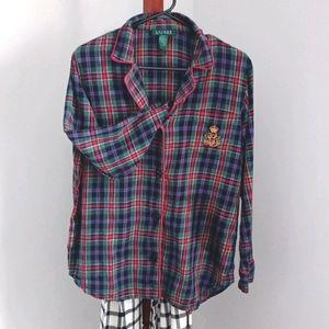 Lauren Ralph Lauren plaid sleep shirt